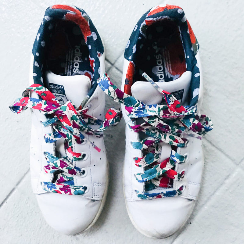 Liberty Print Shoelaces (Poppy + Daisy N)