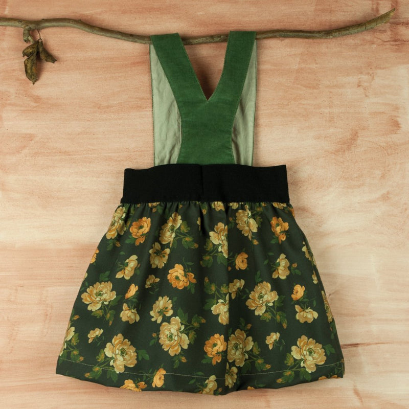 Floral Print Skirt With Straps