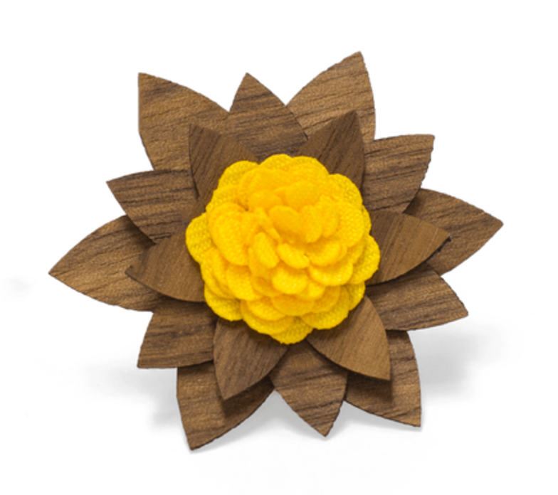 Wooden Lapel Flowers (9 Styles)