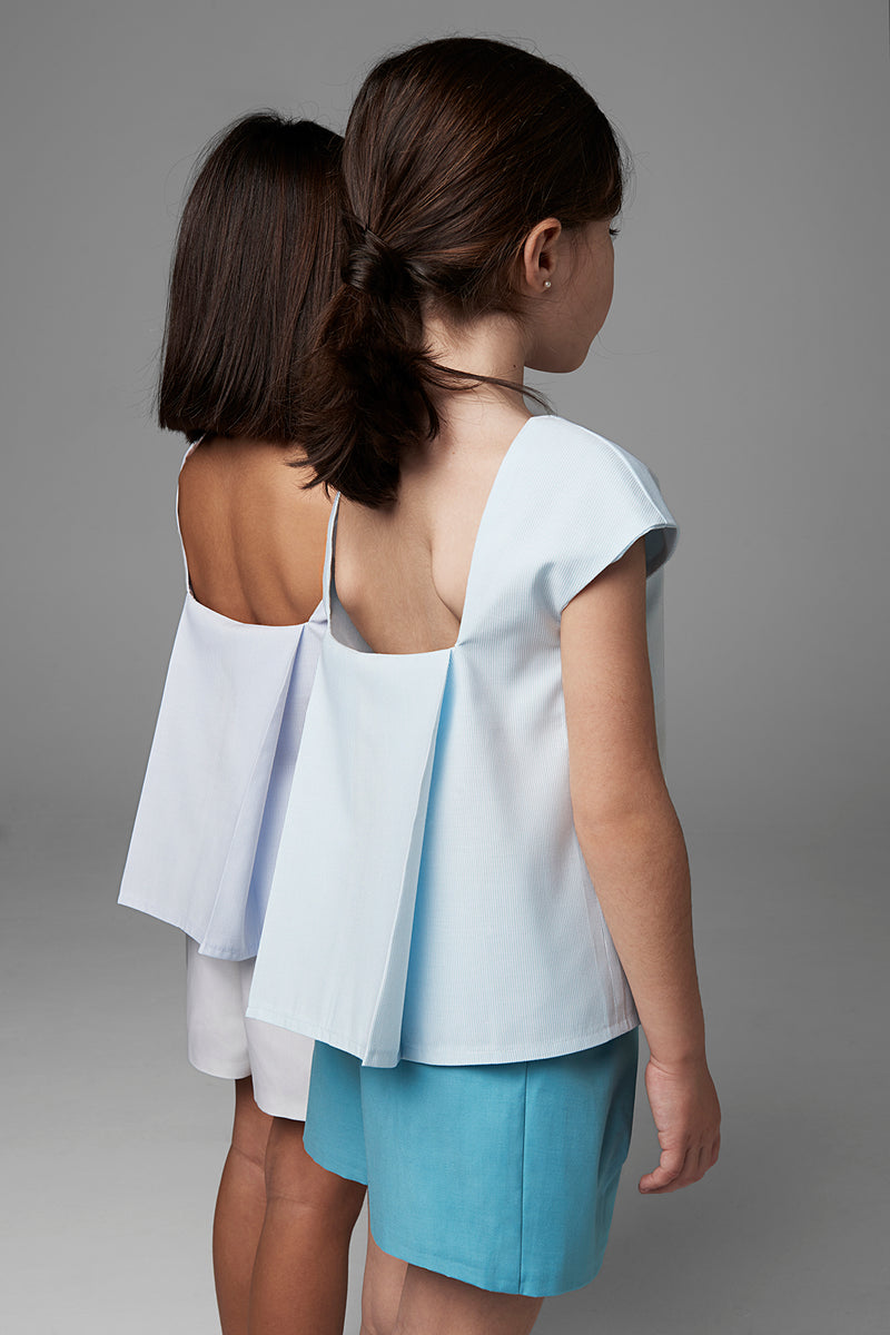 Blouse with Pleated Back