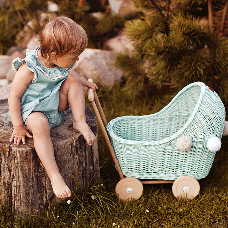 Doll Stroller - Mint Green