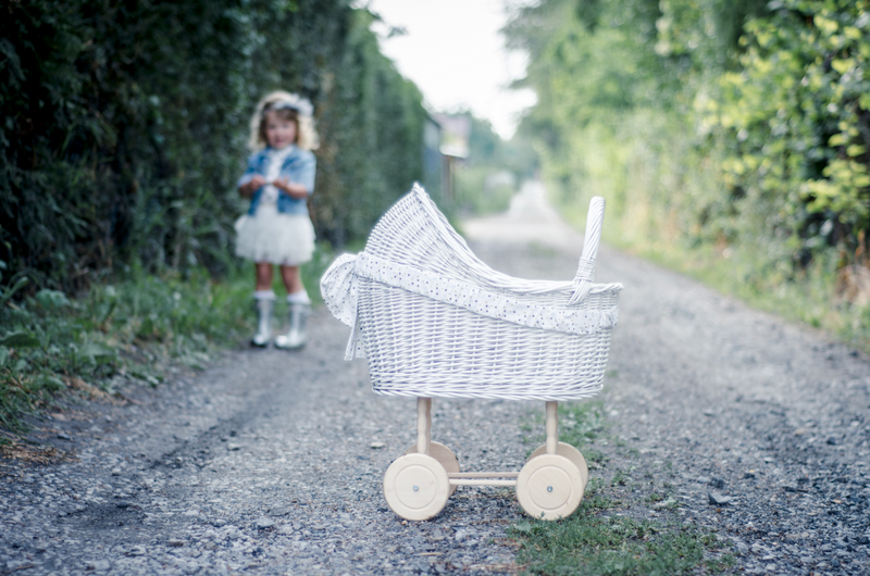 Doll Stroller - White (High)