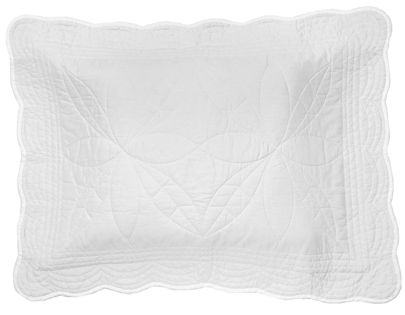 Single Bedspread Quilt and Pillow Set - White