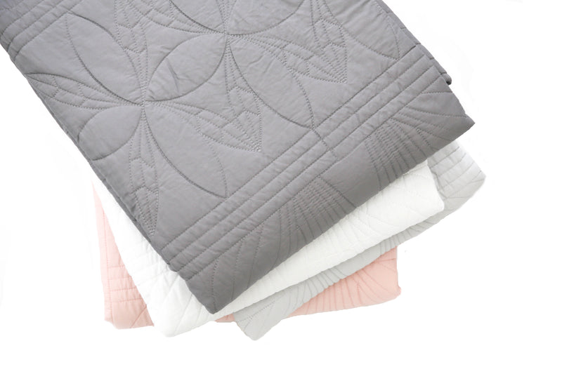 Single Bedspread Quilt and Pillow Set - Elephant Grey