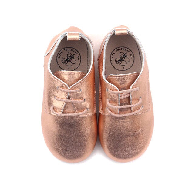 Rose-Gold Oxfords