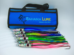 Tuna Bullet Lures - 6 pack - Paua Inlay - Hand Made Tackle