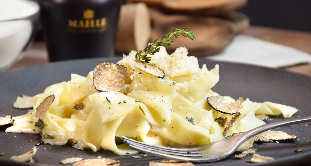 Black Truffle Tagliatelle with Garlic Butter & Thyme