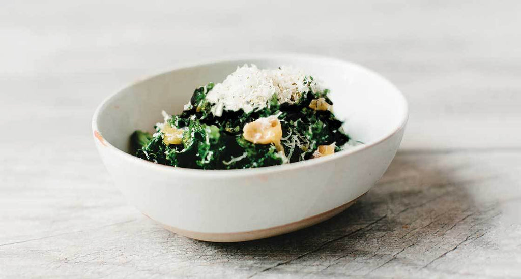 Spicy Kale Caesar with Anchovy-Citrus Vinaigrette