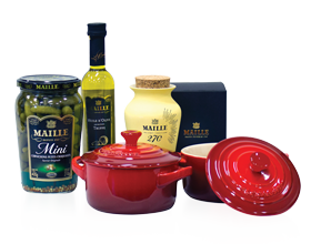 Le Creuset Mini Cocotte and Maille gourmet truffle Selection