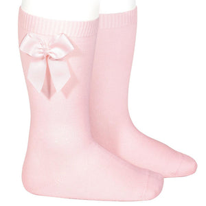 Pink Condor Bow Knee High Socks