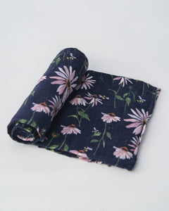 COTTON SWADDLE - DARK CONEFLOWER
