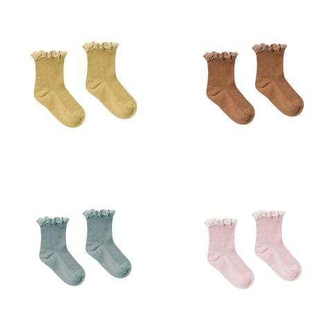 lace trim socks (multiple colors available)