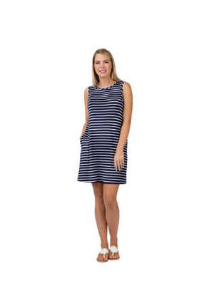Top It Off Georgina Sleeveless Striped Dress