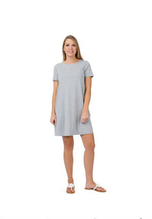 Top It Off Brooks T-Shirt Dress