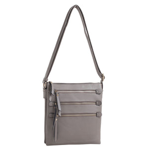 Concealed Handgun Cross Body Zipper Handbag with Lock and Key - Piper