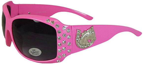 Womens Sunglasses with Horseshoe and Rhinestones
