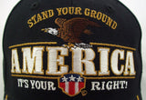 Mens Hat STAND YOUR GROUND AMERICA IT'S YOUR RIGHT