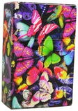 Womens Cigarette Box Colorful Butterflies Cases with Pull Up Top