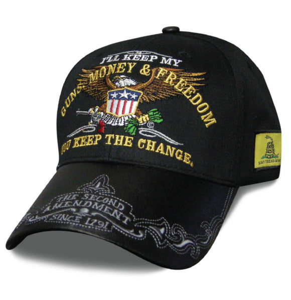 Mens Hat I'LL KEEP MY GUNS, MONEY & FREEDOM YOU KEEP THE CHANGE