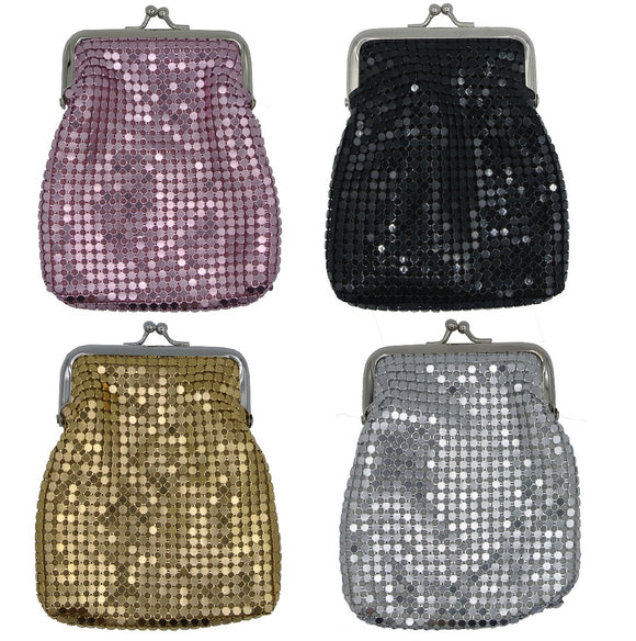 Texcyngoods Women's Mesh Cigarette Cases for Regulars and Kings or Large Coin Purse with Twisp Clasp