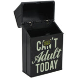 Cigarette Case with Can't Adult Glow in the Dark Auto Open Pack Holder