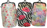 Set of 3 Cigarette Cases Tampon Pouches Eyeglass Holders Change Purses - Butterflies, Peace Signs and  Zebra Prints