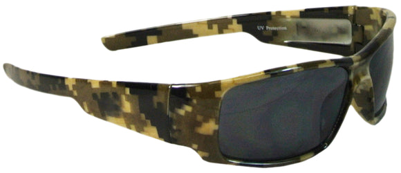 Men's Camouflage Wrap Sunglasses