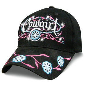 Women's Hat Cowgirl Prairie Rose Baseball Cap