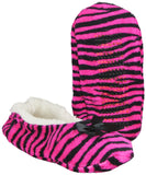 Womens Ballet Slippers Zebra Print Cozy House Shoes