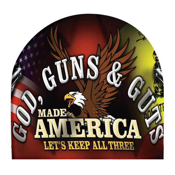 2nd Amendment Sublimation Beanie Fleece Lined GOD, GUNS AND GUTS MADE AMERICA LET'S KEEP ALL THREE Mens Hat