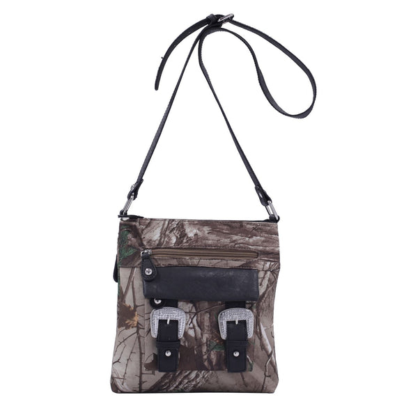 Camo Concealed Carry Cross Body Purse - Edith with Removable Holster