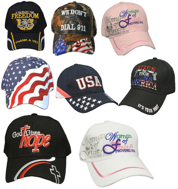 Wholesale Hat Lot - Men's and Women's - 12 Hats in Each Lot