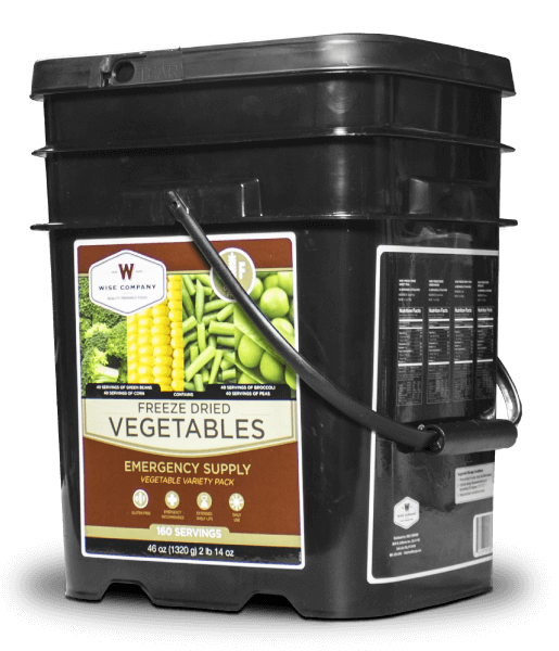 Wise Company Gluten Free Vegetable 160 Serving Bucket