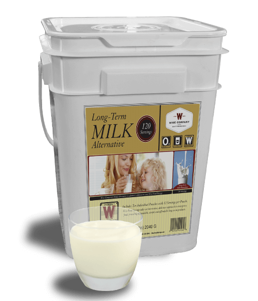 120 Serving Powdered Milk Bucket By Wise Company