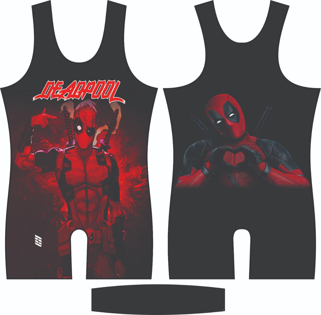 Deadpool wrestling singlet