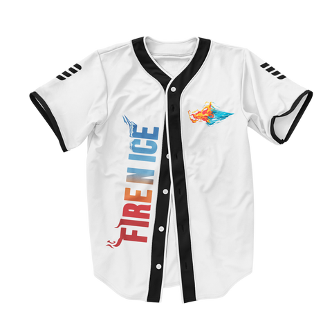 Fire n Ice Baseball Jersey