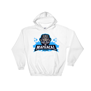 Maniacal White Hoodie