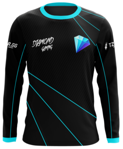 Diamond Black Long Sleeve Jersey