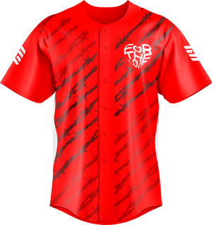 For The Love Red baseball Jersey
