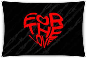 For The Love Black Team Banner