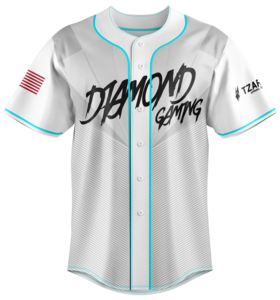 Diamond White Baseball Jersey