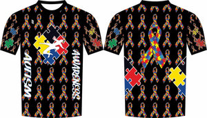 Autism Awareness Compression Shirt Black