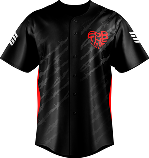 For the Love Black Baseball Jersey