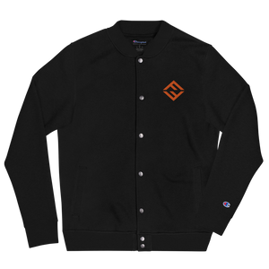 Fear Embroidered Champion Bomber Jacket