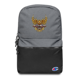 Golden Embroidered Champion Backpack