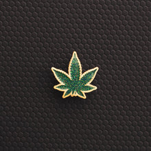 Glitter Pot Leaf Pin
