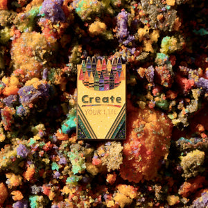 Create Your Life Crayola Remix Pin