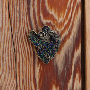Day Dreaming Skull Enamel Lapel Pin