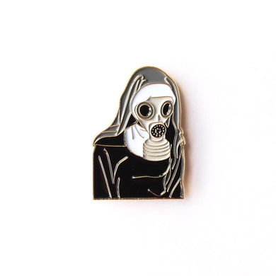 Nun Gas Mask Pin - ThePinCartel
