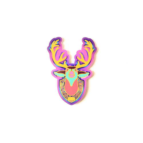 Mounted Deer Sticker - ThePinCartel